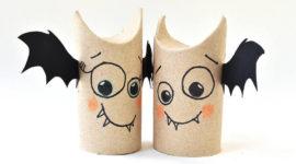 Manualidades de Halloween con rollos de papel higiénico