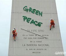Greenpeace Argentina protesta en el Obelisco