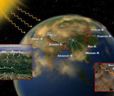 Nubes marrones sobre la India recalientan la atmósfera