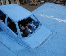 Una obra ecológica teñida de azul