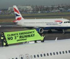 La lucha de Greenpeace llega hasta el cielo