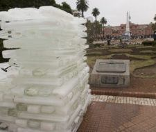Pirámide de hielo argentina contra el calentamiento global