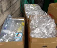Una casa hecha con botellas de plástico