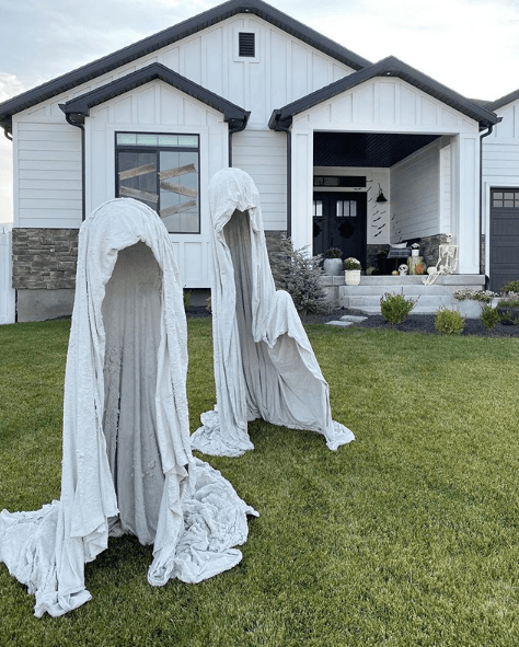 Halloween ecológico 2020 fantasmas sábanas