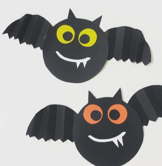Halloween ecológico 2020 murciélagos de cartón