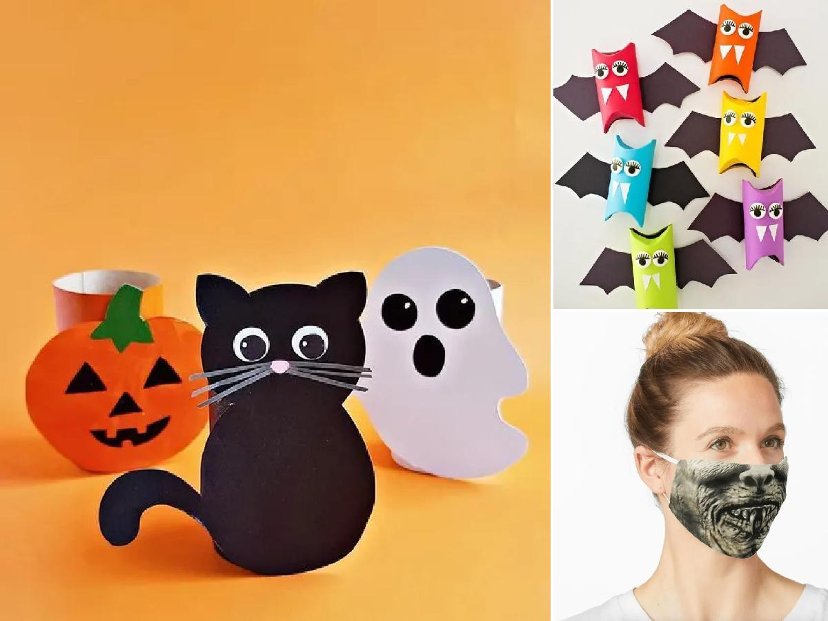 Manualidades de Halloween con rollos de papel higiénico portada