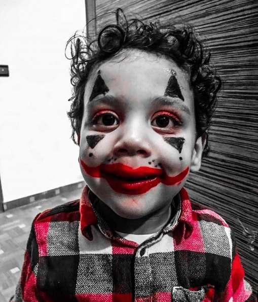 Manualidades fáciles de Halloween para niños maquillaje mini Joker