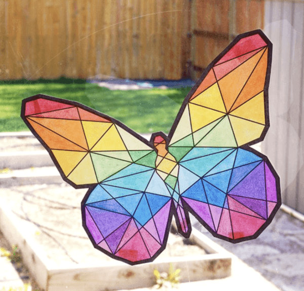 Ideas para hacer manualidades de animales con materiales reciclados mariposa mosaico