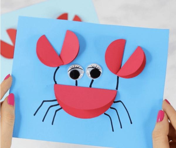 Ideas para hacer manualidades de animales con materiales reciclados cangrejo