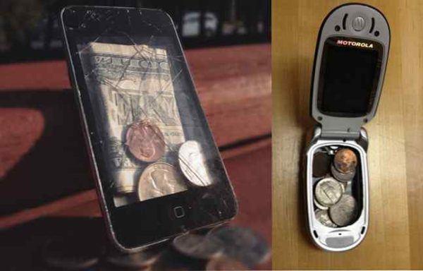 Las mejores formas e ideas para reciclar nuestros moviles y tablets billetera hucha